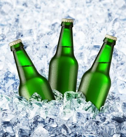 Beer is in ice Stock Photo - 5309110