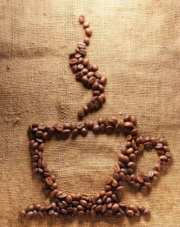 cup of coffee from corns photo