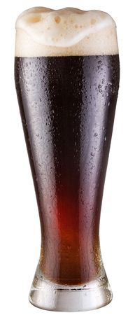 adjuvant: black beer; object on a white background