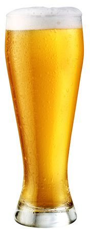 adjuvant: light beer; object on a white background