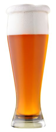 sapid: Not filtered beer; object on a white background
