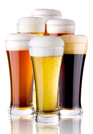 profiting: glasses with beer Stock Photo