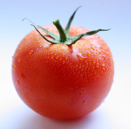 heartiness: Tomato; objects on white background