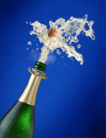 Sparks of champagne Stock Photo