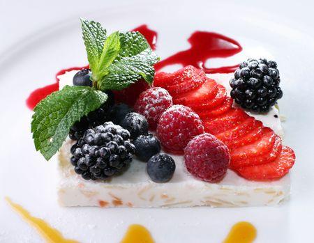 blackberry fruit: fruit dessert Stock Photo