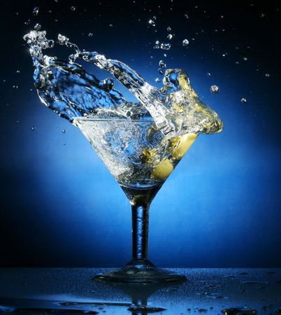 martini splash: martini Stock Photo