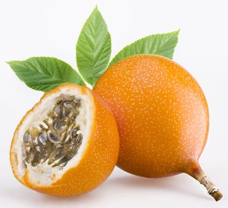 Passion fruit one a white background Stock Photo - 5329017