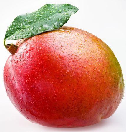 mango isolated: Red mango on a white background