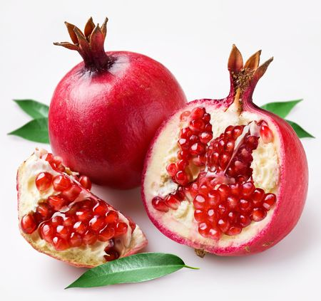 pomegranate juice: pomegranate Stock Photo