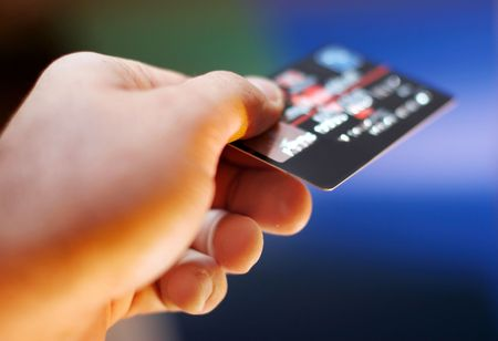 transaction: Creditcard  Stockfoto