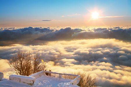 platform above clouds Stock Photo - 5329051