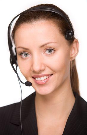 girl - telephone operator photo
