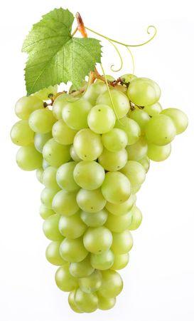 uvas: Uva en un fondo blanco  Foto de archivo