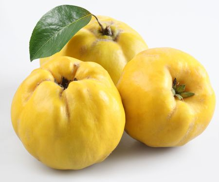 pectin: quince on a white background