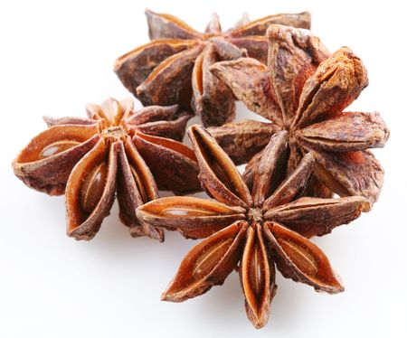 seed of anise on a white background photo