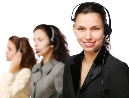 Customer support team during work. Stock Photo - 8402666