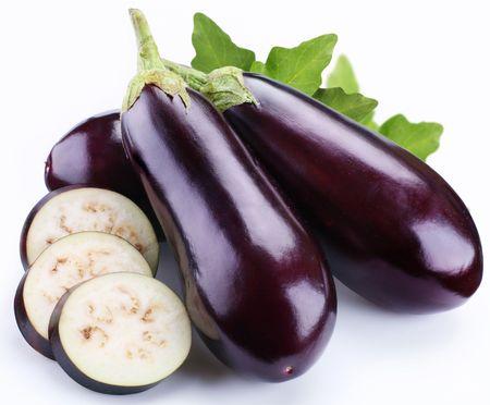 aubergine: aubergine on a white background