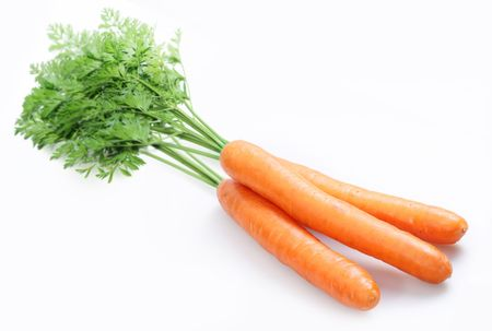 Carrot on a white background Stock Photo - 5918396