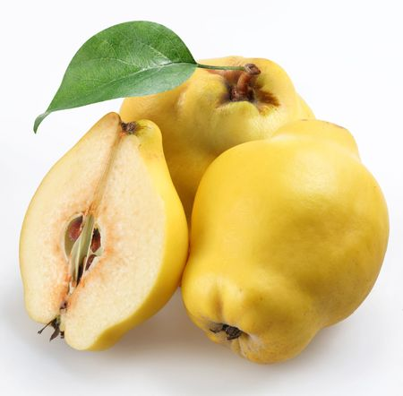 quince on a white background photo