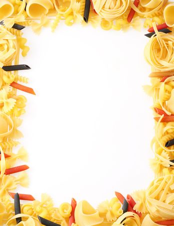projected: Back projected (lighted) macaroni (pasta) Stock Photo