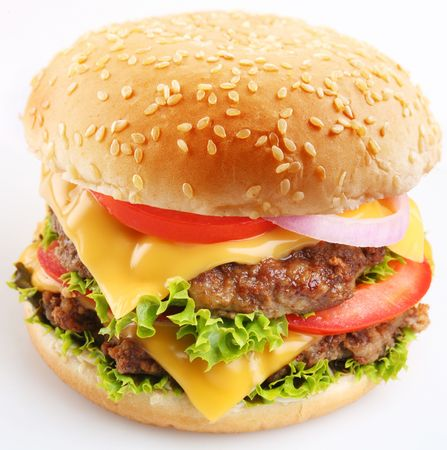Cheeseburger on a white background Stock Photo - 6305922