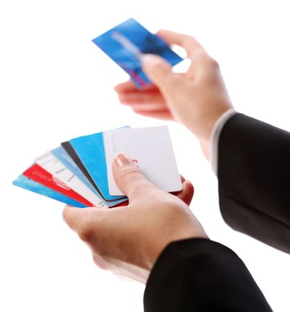 Credit card in the hands of women Stock Photo - 6606764