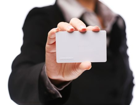 Credit card in the hand of women Stock Photo - 6606772