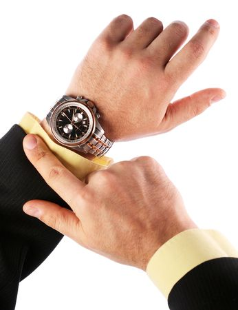 Businessman looks at his watch Stock Photo - 6606812