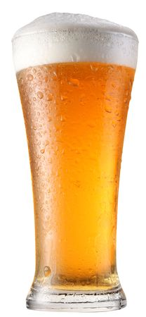glass of beer: glass of beer on a white background