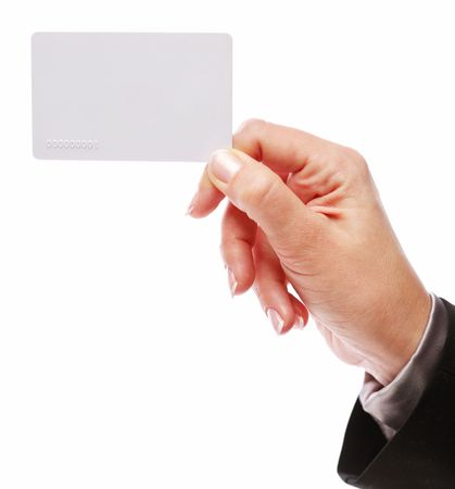 Credit card in the hand of women Stock Photo - 6608199