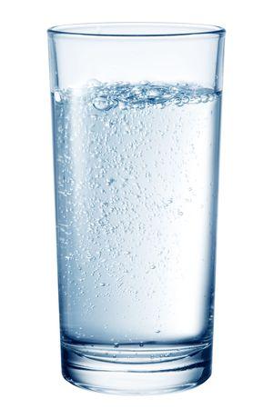 carbonation: Vaso de agua de la tabla.