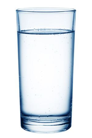 carbonation: Glass of table-water.