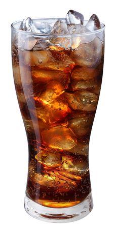 carbonation: Vidrio de cola con cubos de hielo