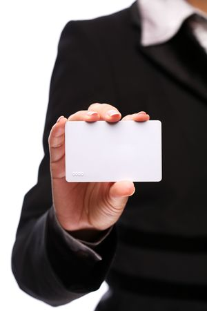 Credit card in the hand of women Stock Photo - 6649358