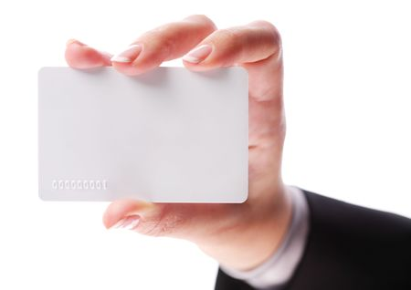 Credit card in the hand of women Stock Photo - 7167810