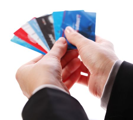 Credit card in the hands of women Stock Photo - 7553369