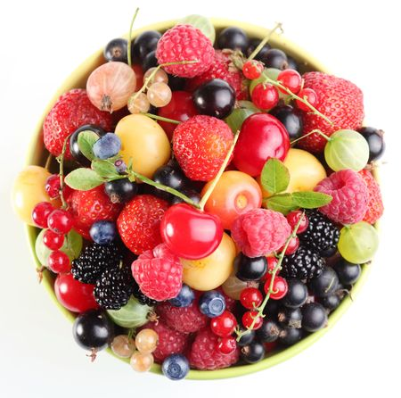 Different fruit in the bowl. Up shot. Stock Photo - 7554256