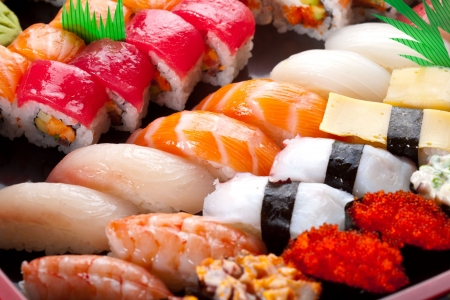 seafood platter: Sushi and rolls