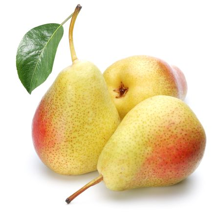 Ripe pears.Objects are isolated on a white background. photo