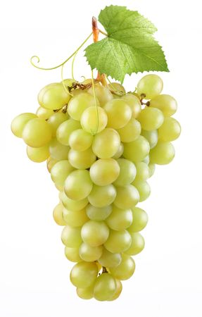 Bunch of ripe grapes on a white background photo