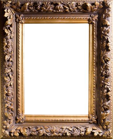 Baget old frame isolated on white Stock Photo - 7836449