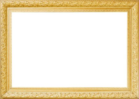 Baget old frame isolated on white Stock Photo - 7836419