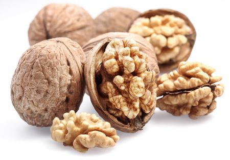 walnuts: Walnuts  isolated on a white background.