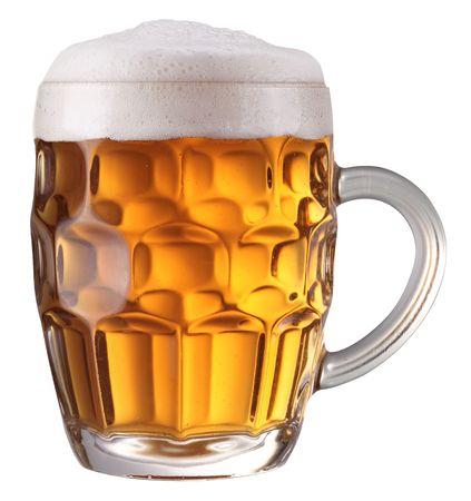 Mug full of fresh beer photo