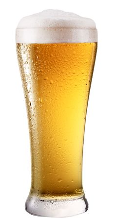 beer foam: Frosty glass of light beer isolated on a white background. File contains a path to cut.