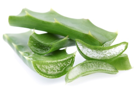 Pieces of aloe vera. Isolated on a white background. Stock Photo - 8296093
