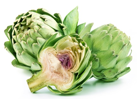 Artichoke on a white background photo