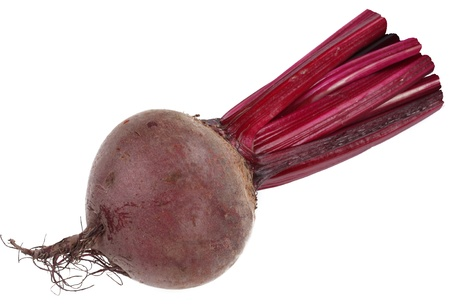 beet: Image of beet on white background. The file contains a path to cut. Stock Photo