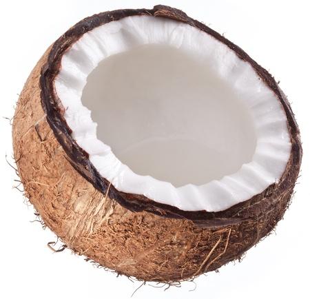 noix de coco: Photos de haute qualit� de noix de coco sur un fond blanc.