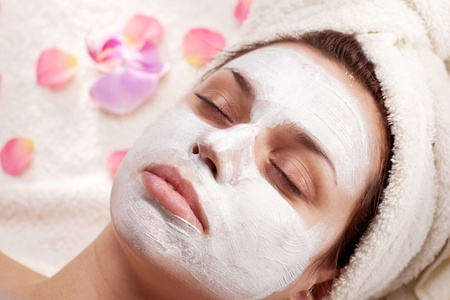 Young woman getting spa procedures. photo
